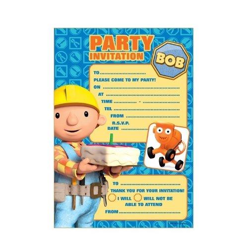 Bob the Builder Party Invitations & Envelopes