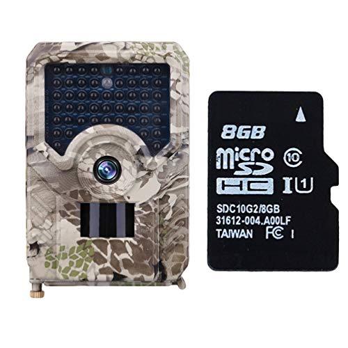 Xegood Wildkamera 12MP 1080P mit 8 GB SD Card 49pcs 940 nm IR-LEDs 20m Nachtsicht,Auslösegeschwindigkeit 0,8 S Camouflage 8G