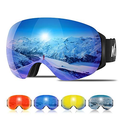 Kuyou Ski Goggles - OTG Snow Goggles,Over The Glasses Snowboard Goggles...