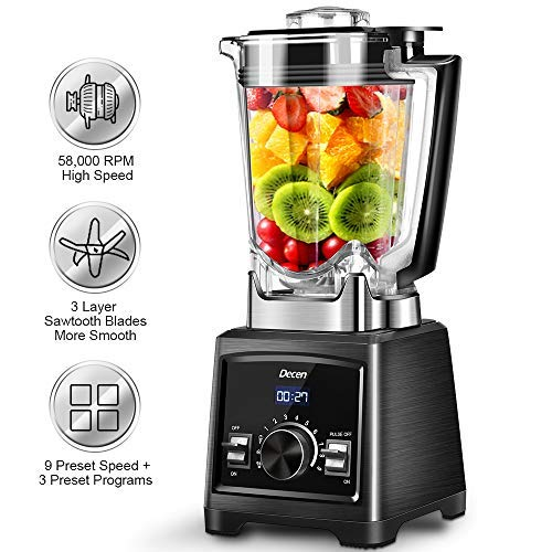 Professional Blender, 1450W Smoothie Blender with 72 Oz BPA-Free Pitcher, 58000 RPM High Speed...