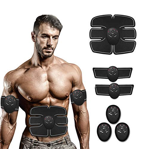 DeepSleepro Abs Stimulating Belt-Training Device for Muscles Abdominal Toner- Wireless Portable to-Go Gym Device- Fitness Equipment for at-Home Workouts- Muscle Sculpting at Home (L)