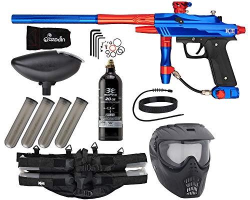 Action Village Azodin KDIII Paintball Gun Epic Package Kit (Polished Blue/Polished Orange-Red)