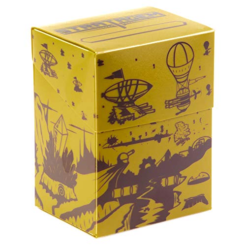 The Big Box Card Deck Box with Divider Dueling Dirigibles  Oversized Deck Box for 60card deck plus more  Card Deck Boxes for Magic the Gathering Pokemon Yugioh amp Sleeved or Unsleeved Cards