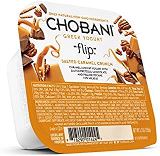 Chobani Flip Salted Caramel Crunch Greek Yogurt, 5.3 Ounce -- 12 per case.