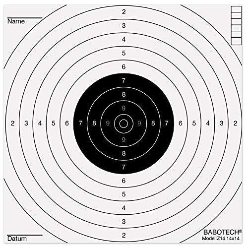 BaboTech 50 x Luftgewehr Zielscheiben 14x14cm für Pistole Luftgewehr Airsoft [ Target Zielscheibe für Kugelfang ]