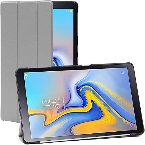 ebestStar - kompatibel mit Samsung Galaxy Tab A 10.5 Hülle (2018) T590 T595 Schlank Smart Cover [Ultra Dünn] Schutzhülle Etui, Schutz Hülle Ständer, Hülle Stand, Grau [Tab: 260x161.1 x8.0mm 10.5