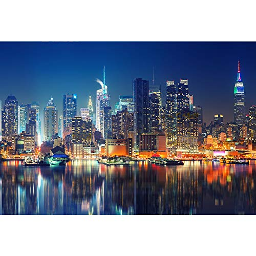Jigsaw Puzzles for Adults 1000 Pieces - New York City Skyline Puzzles for Kids Adults, DIY Puzzles Educational Brain Challenge Games for Kids Adults Gifts