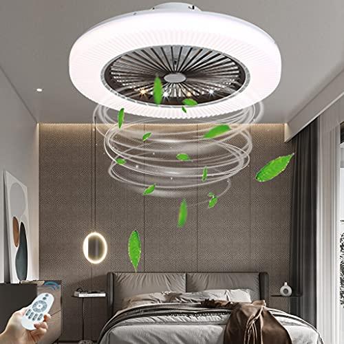 Ventilador Circular LED Lámpara De Techo Lámpara De Ventilador A Prueba De Polvo Velocidad Del Viento Ajustable Función De Sincronización Control Remoto Dormitorio Lámpara De Ventilador De Techo