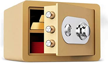 Safes Mechanical Password, Wardrobe 25cm with Key Mini Invisible Bedside Code Safes Office All-Steel Anti-Theft Jewelry Ma...