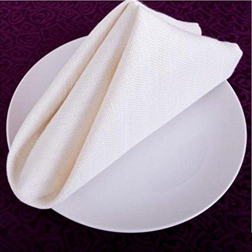 MXJ61 Essuie-tout haut de gamme en tissu essuie-mains Linge de table en lin 50 * 50cm ( taille : 10 Pcs/Set )