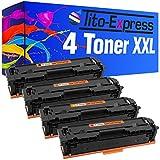 Tito-Express Platinum Series 4 Cartucce Toner XXL compatibile con HP CF530A 531A 532A 533A 205A Color Laserjet Pro MFP-M180 FNDW M180N MFP-M181 FW M181FW