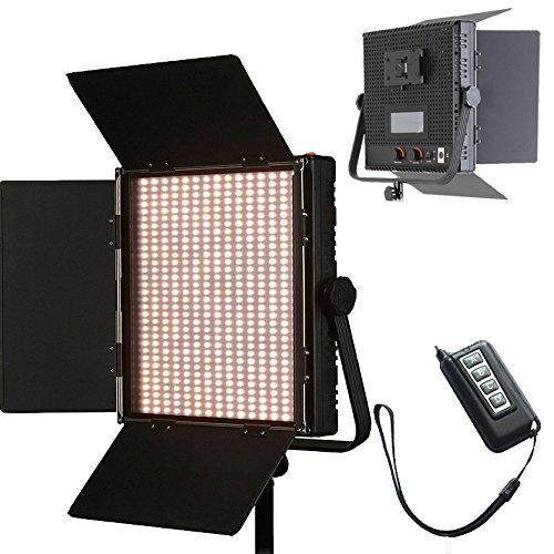 Hwamart 1024ASVLY LED Bi-Color Dimmbare Panel-V-Mount Platte LCD-Screen-Fernbedienung 4 Studio Filmbeleuchtung