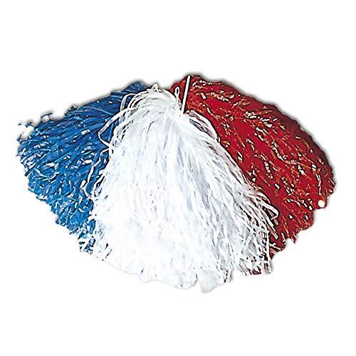 Widmann 1096F – 1 Pom Pom, blau, weiß und rot, Puschel, Frankreich, Sportveranstaltung, Cheerleader, Funkenmariechen, Fans, College People, Motto Party, Karneval