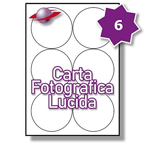 25 Fogli LP6//88 MWP. 150 Etichette 6 Par Foglio Label Planet/® Etichette in Poliestere Bianco Matte A4 per la Stampa Laser 88mm Diametro