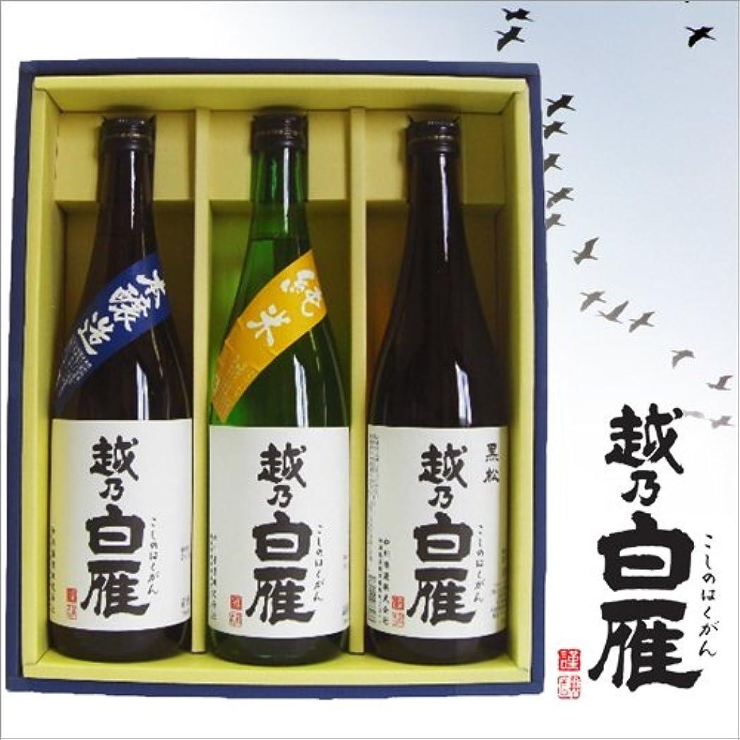 対節約する愚かな中川酒造 越乃白雁 日本酒 飲み比べセット 720ml×3本