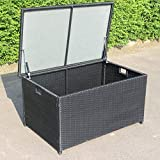 XLLLL Arcon Exterior Impermeable Caseta Depuradora Bin Shed Garden Rattan con Ruedas Caja De Almacenamiento De Jardín Al Aire Libre Estilo De Ratán