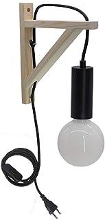 Aplique de trípode de madera estilo Artpad INS con enchufe en la moderna lámpara de pared nórdica para dormitorio junto a la cama Lámpara colgante de pared interior