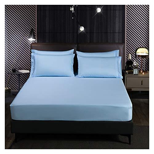 HOMFLOW Bäddmadrassen Andas Abrasion Resistant Cotton Madrass Omslutningen Smooth Comfort Fade Resistent Maskintvättbar (Color : Naive blue, Size : 180x200cm)