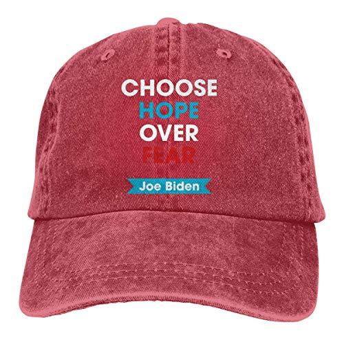 shenguang Choose Hope Over Fear Joe Biden 2020 Adjustable Vintage Washed Denim Cotton Dad Hat Baseball Caps Outdoor Sun Hat