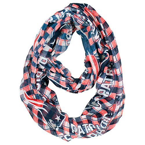 Littlearth NFL Plaid Infinity Schal, New England Patriots