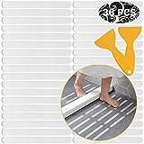 ARTKIVA – 36 pegatinas antideslizantes para tiras antideslizantes, almohadillas antideslizantes para bañera, suelo de ducha, 20 mm x 200 mm