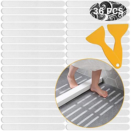 Ruitena - 36 Pegatinas de Tira Antideslizante, Pegatinas de Agarre Antideslizante, Almohadillas Antideslizantes para Suelo de bañera y Ducha (20 mm x 200 mm)