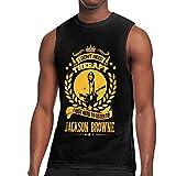 WLQP Camiseta sin Mangas para Hombre Jackson Browne T Shirts Men's Cotton T...