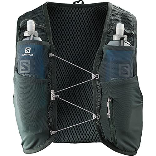 Salomon Active Skin 8 Chaleco de hidratación unisex con SensiFit y Quick Link Construction para trail running