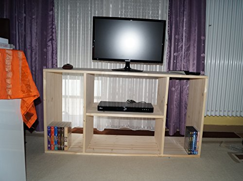 2in1 Regal Sideboard Bücherregal Schrank Wohnwand aus Massiv Fichte 120x64x40cm geschliffen Made in Germany