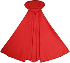 SeasonsTrading Child Red Cape with Collar - Halloween Kids Red Cape