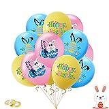24 Piezas Globos de Pascua,Decoraciones de Fiesta de Pascua,globos de látex,Para Fiestas De Cumpleaños Del Festival De Pascua (D)