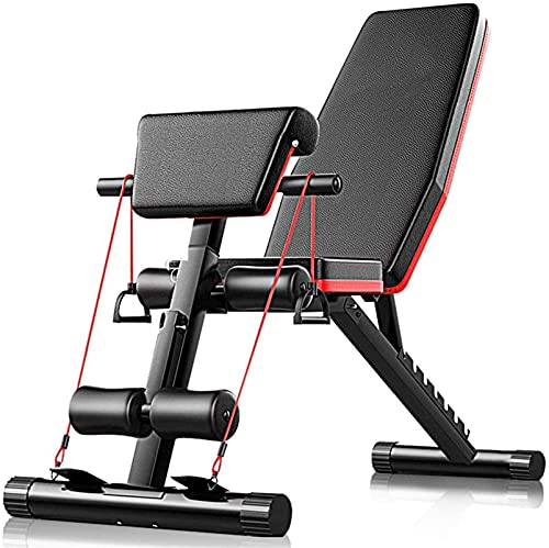 Equipment Home Gym Banco de pesas ajustable, Banco plegable para sentarse 4 en 1 Entrenamiento en casa Gimnasio Banco de levantamiento de pesas Ejercicio de entrenamiento para piernas, Inclinación pla