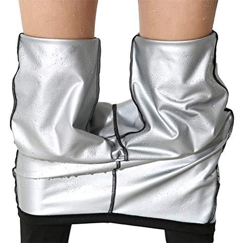 Matehom Damen Schwitzhose Zum Abnehmen, Schwitz Hosen Damen Thermo Neopren Sauna Hosen,Yoga Hose Sporthose Fitnesshose (XL)