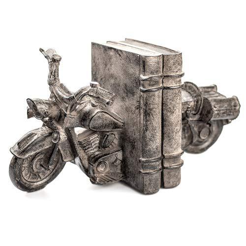 Buchstütze Motorrad 2er Set, Buchhalter, Skulptur, Dekoobjekt Buch - Moped
