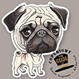 THE HEADS Magnet Dog Lasting Pug/Mops by Tommi Vuorinen