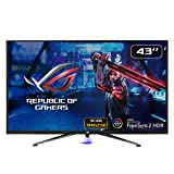 ASUS ROG Strix XG438Q HDR Large Gaming Monitor — 43-inch, 4K (3840 x 2160), 120 Hz, FreeSync™ 2 HDR, DisplayHDR™ 600, DCI-P3 90%, Shadow Boost, 10W Speaker x2, Remote Control