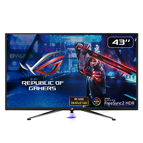 Asus ROG Strix XG438Q 109,22cm (43 Zoll) Gaming Monitor (4K, 120Hz, FreeSync 2 HDR, DisplayHDR 600, Shadow Boost, Aura Sync) schwarz