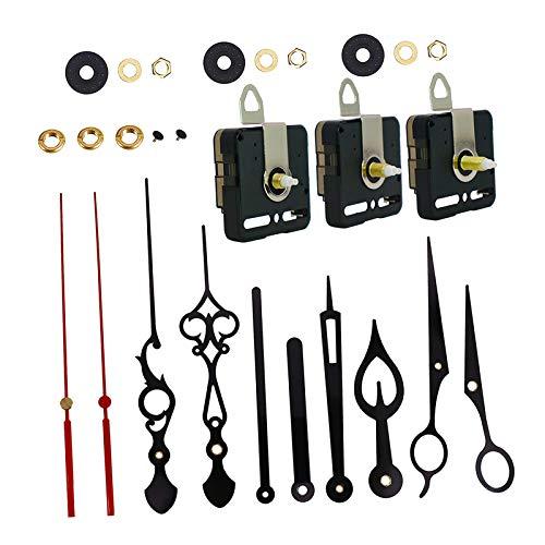 DYNWAVE 高トルクロングシャフト時計ムーブメント、禁煙カチカチサイレントクォーツ時計ムーブメントの & ショートシャフト時計機構4異なるペアの手