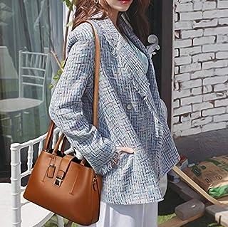 YKDY Shoulder Bag PU Leather Casual Metal Buckle Shoulder Bag Messenger Bag Ladies Handbag (Black) (Color : Brown)