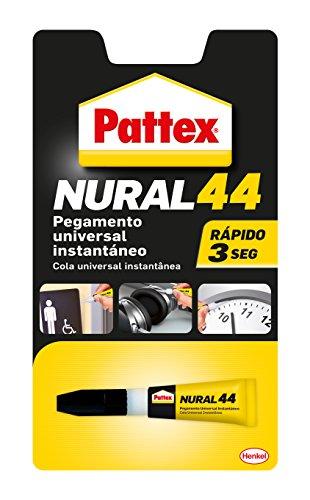 Pattex Nural 44, pegamento universal instantáneo, transparente, 3 gr
