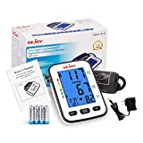 Blood Pressure Monitor - Automatic Upper Arm BP Machine with Backlit Display - Large Adjustable Cuff - Accurate Irregular Heartbeat & Hypertension Detector, Voice Broadcast, 120 Sets Memory