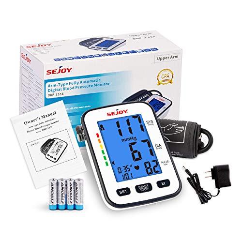 Blood Pressure Monitor, Upper Arm Automatic Digital BP Machine, Large Cuff,...
