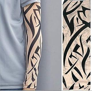 Tattoo Arm Sunscreen Sleeves, 2 Pcs Nylon Elastic Temporary Tattoo Sleeve Designs Body Arm Stockings