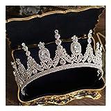 AdorabFruit Tiaras y Coronas de Zirconia Princesa del Desfile de Compromiso de Boda Accesorios for el Cabello Diadema de Noche del Vestido de Novia