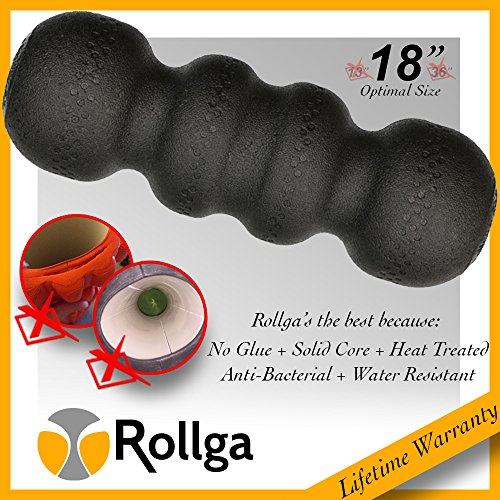 Product Image 6: Rollga Foam Roller: Deep Tissue Massage and Trigger Point Release Muscle Roller, Hard Foam Version, Black Color