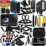 GoPro HERO9 Action Camera (Black) with Premium Accessory Bundle – Includes: SanDisk Extreme 32GB microSD Memory Card, Digipower Re-Fuel Action Camera Stabilizer, Underwater LED Light, & More