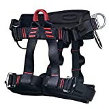 MelkTemn Climbing Harness, Rock Climbing Harness Protect Waist Safety Harness, Wider Half Body Harness for Mountaineering Fire Rescuing Rock Climbing Rappelling Tree Climbing
