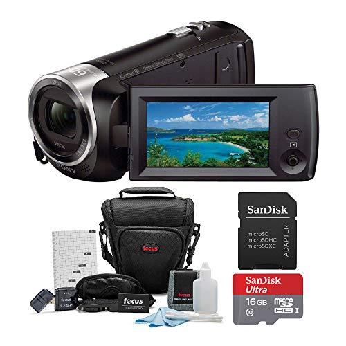 Sony HDR-CX440/B Full HD Video Handycam Camcorder w/Sony 16GB SD Card Bundle -  ASONHDRCX440BK1