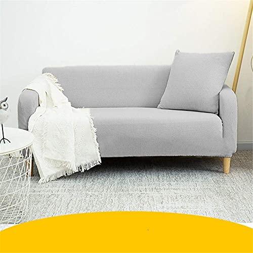 TCWDX Einfarbige elastische Sofabezug Spandex Modern Polyester Ecksofa Couch Schonbezug Stuhl Protector Wohnzimmer 1/2/3/4 Sitzer