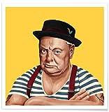 JUNIQE® Pop Art Politische Figuren Poster 30x30cm - Design